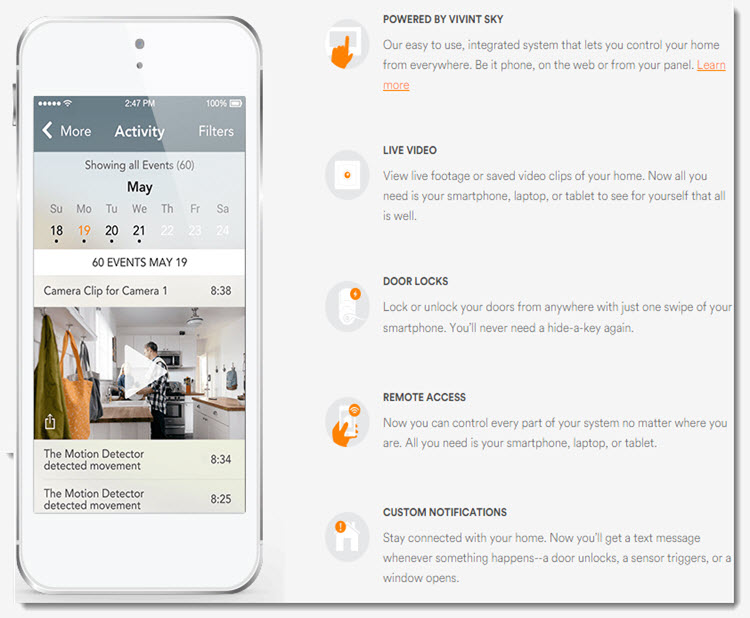 Vivint wireless smart control